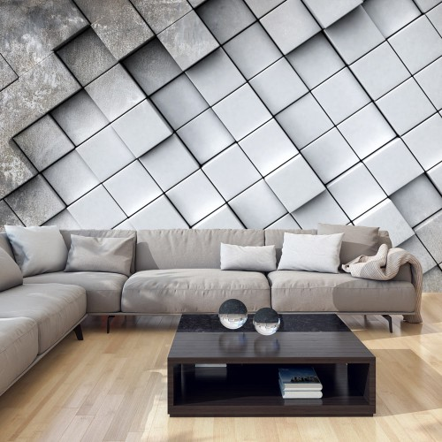 Fotomurale - Gray background 3D - Quadri e decorazioni