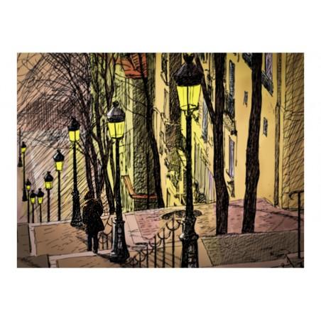 Fotomurale - Lonely walk through Montmartre - Quadri e decorazioni