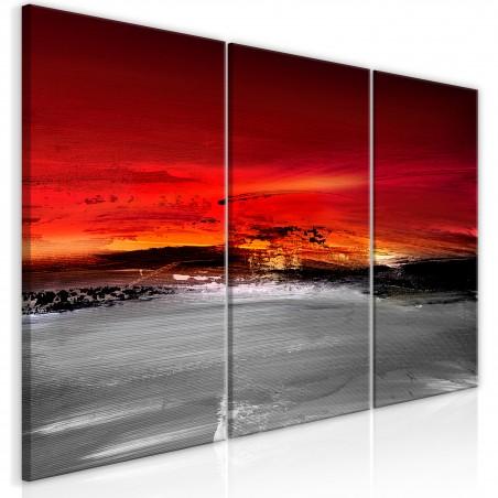 Quadro - Crimson Landscape (3 Parts) - Quadri e decorazioni