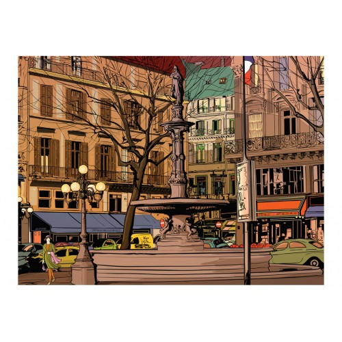 Fotomurale - Walk through the French square - Quadri e decorazioni