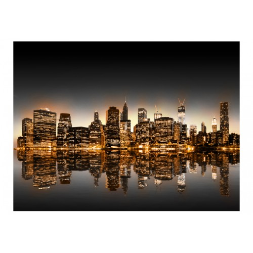 Fotomurale - New York e oro - Quadri e decorazioni