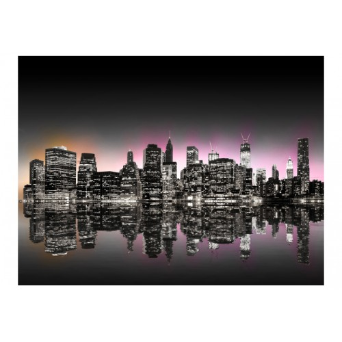 Fotomurale - Colorful glow over NYC - Quadri e decorazioni