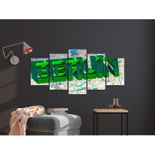 Quadro - Green Berlin (5 Parts) Wide - Quadri e decorazioni