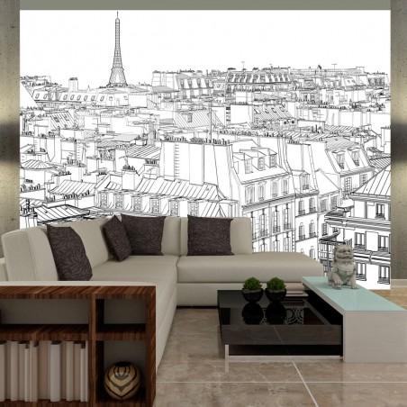 Fotomurale - Blocco da bozzetti di un parigino - Quadri e decorazioni