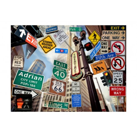 Fotomurale - New York signposts - Quadri e decorazioni