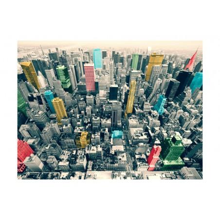 Fotomurale - Riflessi colorati a new York - Quadri e decorazioni