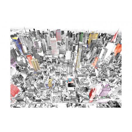 Fotomurale - Schizzo con New York - Quadri e decorazioni