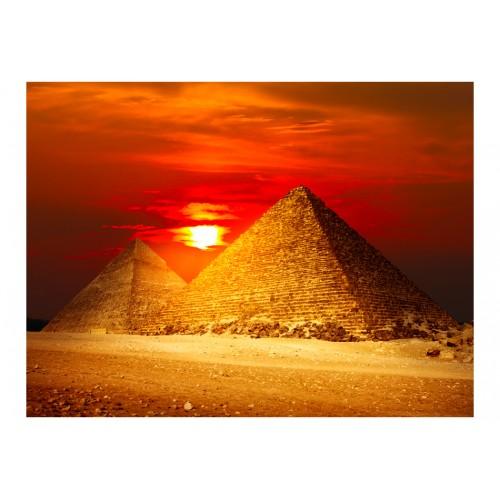 Fotomurale - La necropoli di Giza al tramonto del sole - Quadri e decorazioni