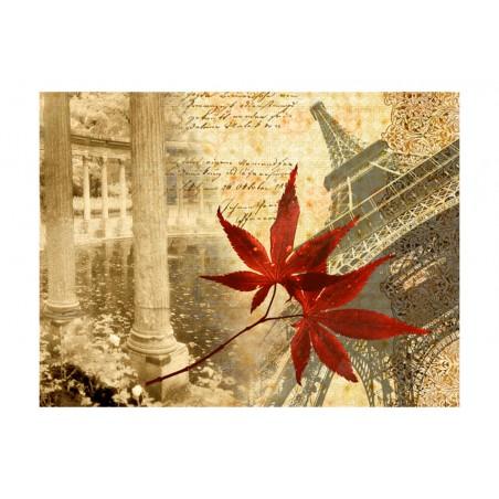 Fotomurale - Autunno e Parigi - Quadri e decorazioni