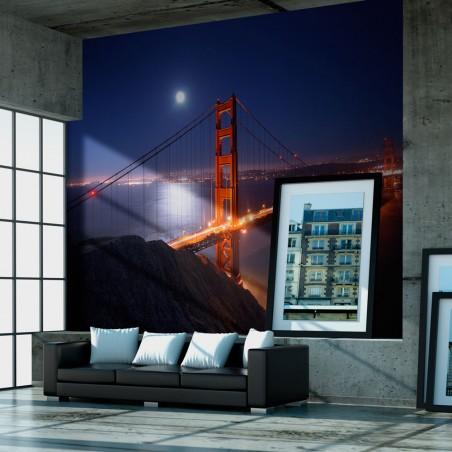 Fotomurale - Il Golden Gate di notte - Quadri e decorazioni