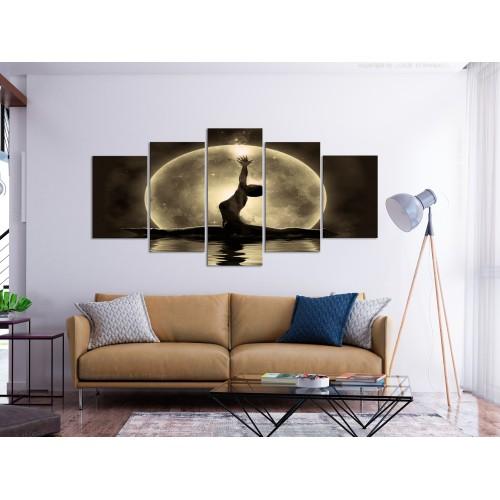 Quadro - Twine (5 Parts) Wide Golden - Quadri e decorazioni