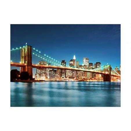 Fotomurale - Il Ponte di Brooklyn luccicante - Quadri e decorazioni