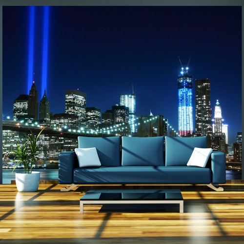 Fotomurale - Floodlights over NYC - Quadri e decorazioni