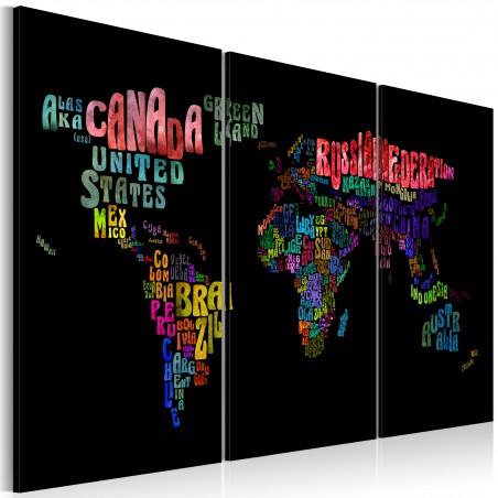 Quadro - Nomi dei paesi: trittico - Quadri e decorazioni