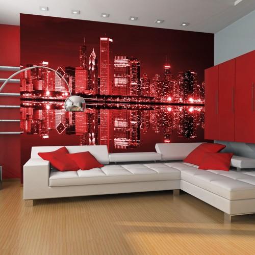 Fotomurale - Chicago in rosso - Quadri e decorazioni