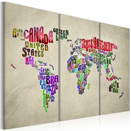 Quadro - Paesi colorati: trittico - Quadri e decorazioni