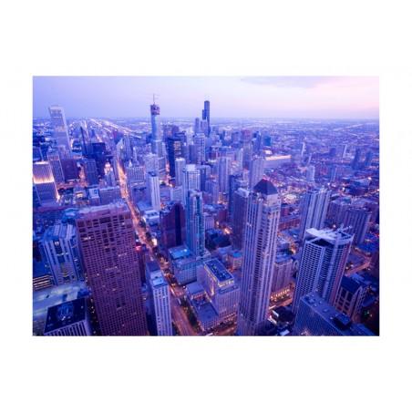 Fotomurale - Timide luci di Chicago all'imbrunire - Quadri e decorazioni
