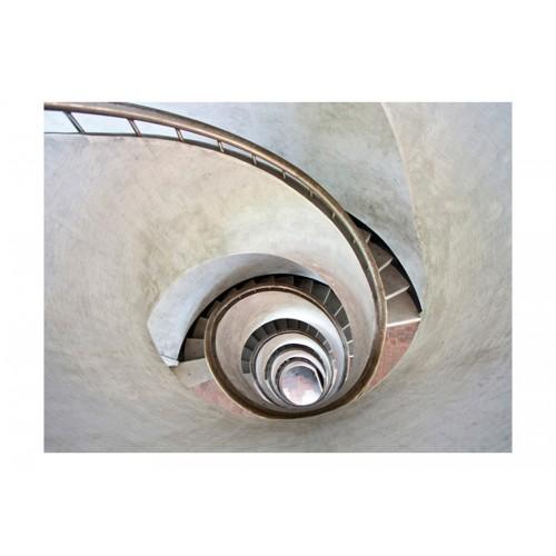Fotomurale - White spiral stairs - Quadri e decorazioni