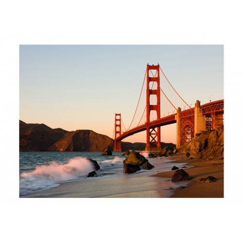 Fotomurale - Il Golden Gate Bridge - tramonto, San Francisco - Quadri e decorazioni