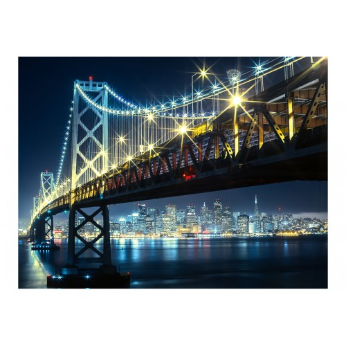 Fotomurale - Bay Bridge di notte - Quadri e decorazioni