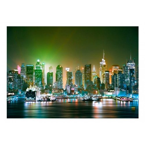 Fotomurale - NY: Enlightened Harbour - Quadri e decorazioni