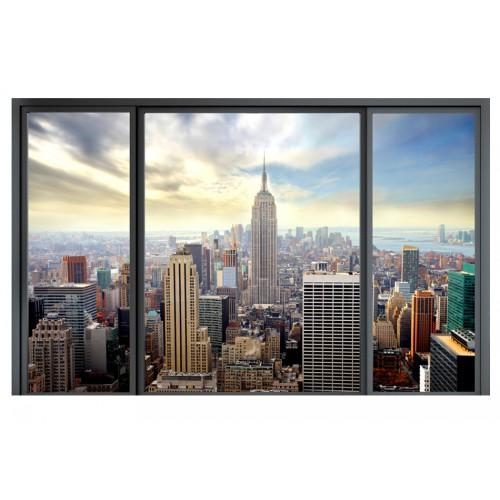 Fotomurale - Città dietro un vetro - Quadri e decorazioni