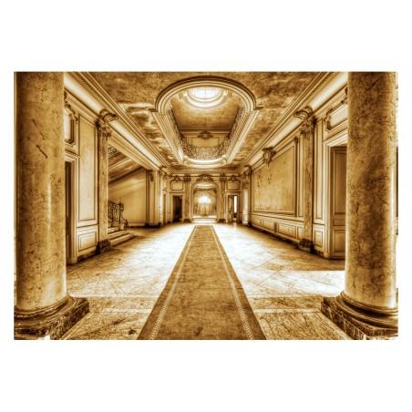 Fotomurale - Mistero del marmo - seppia - Quadri e decorazioni
