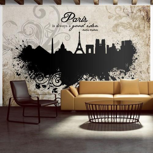 Fotomurale - Paris is always a good idea - vintage - Quadri e decorazioni