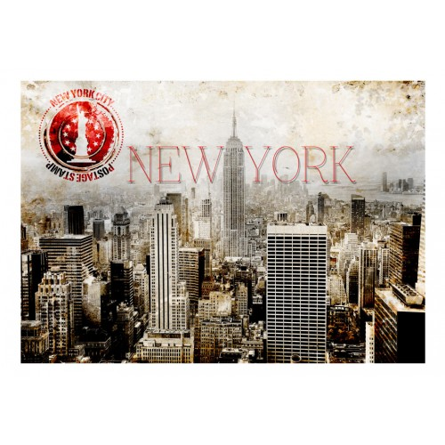 Fotomurale - New York - POST AGE STAMP - Quadri e decorazioni