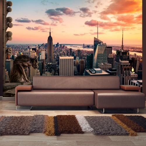Fotomurale - New York: I grattacieli ed il tramonto - Quadri e decorazioni