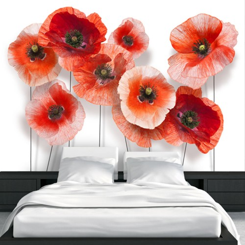 Fotomurale - Nine poppies - Quadri e decorazioni