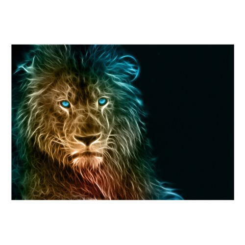 Fotomurale - Abstract lion - Quadri e decorazioni