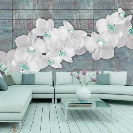 Fotomurale - Orchids with pearls - Quadri e decorazioni