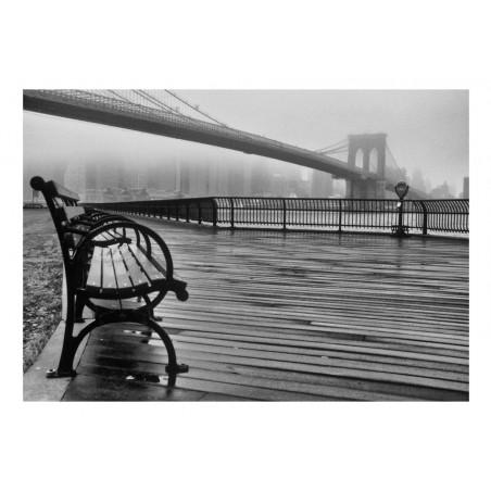 Fotomurale - A Foggy Day on the Brooklyn Bridge - Quadri e decorazioni