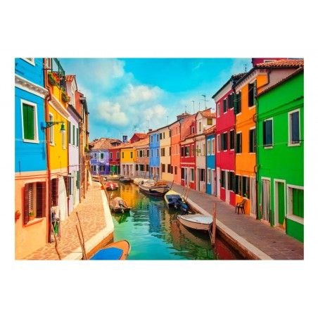 Fotomurale - Colorful Canal in Burano - Quadri e decorazioni