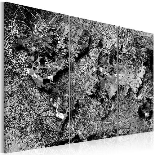Quadro - World Map: Grey Thread - Quadri e decorazioni