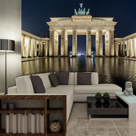 Fotomurale - La Porta di Brandeburgo di notte - Quadri e decorazioni