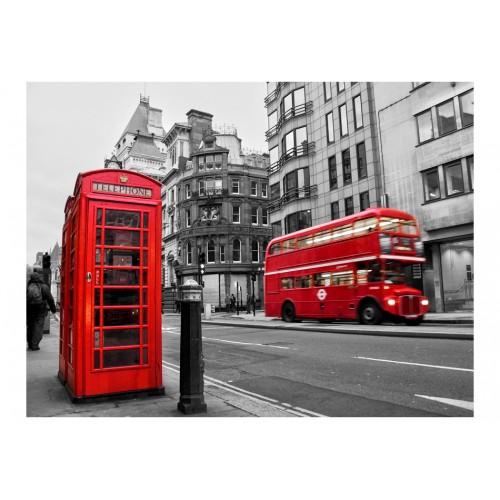 Fotomurale - Cabina telefonica e autobus a due piani: Londra - Quadri e decorazioni