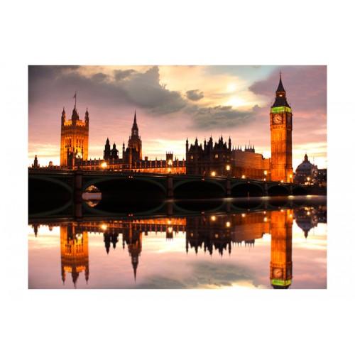 Fotomurale - Big Ben di sera, Londra - Quadri e decorazioni