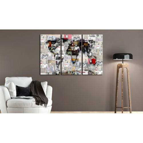 Quadro - Modern World's Map - Quadri e decorazioni