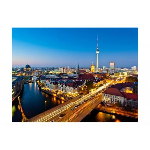Fotomurale - Berlin view from Fischerinsel (night) - Quadri e decorazioni