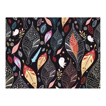 Fotomurale - Foglie d'autunno su fondo nero - Quadri e decorazioni