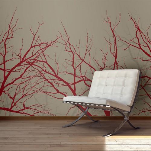 Fotomurale - Red-hot branches - Quadri e decorazioni