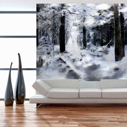 Fotomurale - Foresta invernale - Quadri e decorazioni