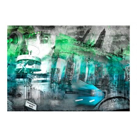 Fotomurale - Berlino - collage (verde) - Quadri e decorazioni