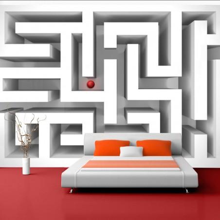 Fotomurale - Labirinto bianco - Quadri e decorazioni