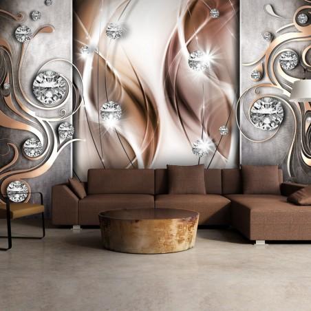 Fotomurale - Brown and Diamonds - Quadri e decorazioni