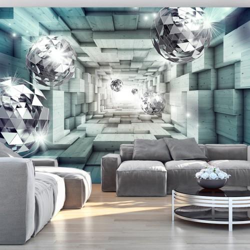 Fotomurale - Journey Through the Blue Tunnel - Quadri e decorazioni
