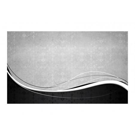 Fotomurale - Onde bianco e nere: vintage - Quadri e decorazioni