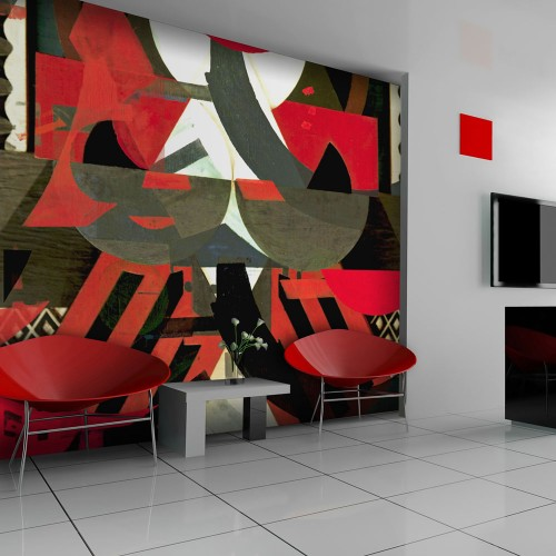 Fotomurale - Composizione artistica - rosso - Quadri e decorazioni